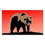 Sunset Grizzly Bear Sticker (Rectangle 10 pk)