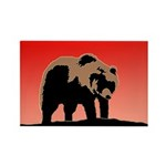 Sunset Grizzly Bear Rectangle Magnet (100 pack)