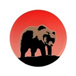 Sunset Grizzly Bear Button