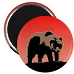Sunset Grizzly Bear Magnet