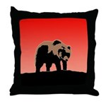 Sunset Grizzly Bear Throw Pillow