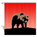 Sunset Grizzly Bear Shower Curtain