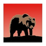 Sunset Grizzly Bear Tile Coaster