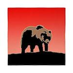 Sunset Grizzly Bear Queen Duvet