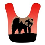Sunset Grizzly Bear Polyester Baby Bib