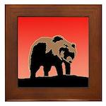 Sunset Grizzly Bear Framed Tile