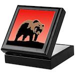 Sunset Grizzly Bear Keepsake Box