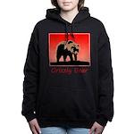 Sunset Grizzly Bear Women's Hooded Sweatshirt