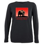 Sunset Grizzly Bear Plus Size Long Sleeve Tee