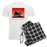 Sunset Grizzly Bear Men's Light Pajamas
