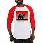 Sunset Grizzly Bear Baseball Jersey