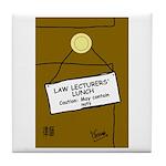 Law Lecturer's Tile Coaster