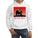 Sunset Grizzly Bear Hooded Sweatshirt