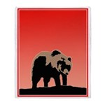 Sunset Grizzly Bear Throw Blanket