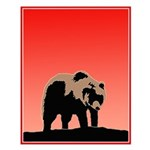 Sunset Grizzly Bear Small Poster