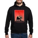 Sunset Grizzly Bear Hoodie (dark)