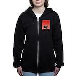 Sunset Grizzly Bear Women's Zip Hoodie