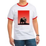Sunset Grizzly Bear Ringer T