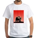 Sunset Grizzly Bear White T-Shirt