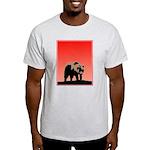 Sunset Grizzly Bear Light T-Shirt