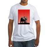 Sunset Grizzly Bear Fitted T-Shirt