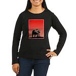 Sunset Grizzly Be Women's Long Sleeve Dark T-Shirt