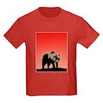 Sunset Grizzly Bear Kids Dark T-Shirt