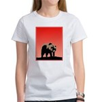 Sunset Grizzly Bear Women's Classic White T-Shirt