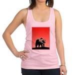 Sunset Grizzly Bear Racerback Tank Top