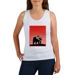 Sunset Grizzly Bear Women's Tank Top