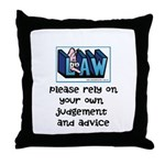 Commercial Lawyer's Throw Pillow