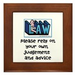 Commercial Lawyer's Framed Tile