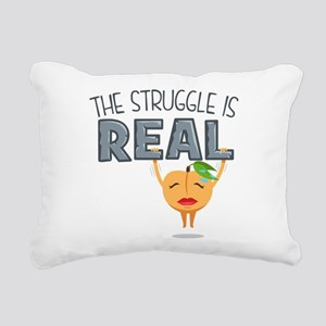 Struggle is Real Rectangular Canvas Pillow