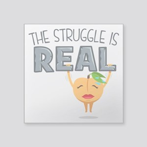 """Struggle is Real Square Sticker 3"""" x 3"""""""