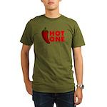 Hot One Chili Organic Men's T-Shirt (dark)