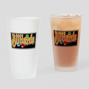 Billiards Drinking Glass