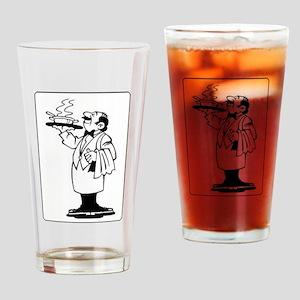 Waiter Drinking Glass