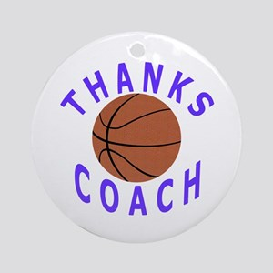 Thanks Basketball Coach Ornament (Round)