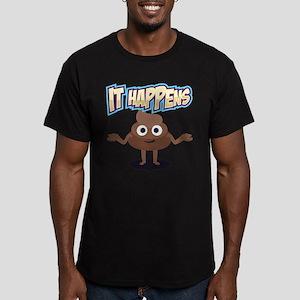 It Happens Men's Fitted T-Shirt (dark)