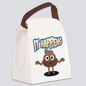 It Happens Canvas Lunch Bag