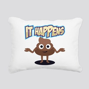 It Happens Rectangular Canvas Pillow