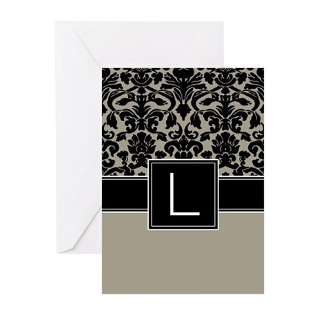 Monogram Letter L Gifts Greeting Cards (Pk of 10)