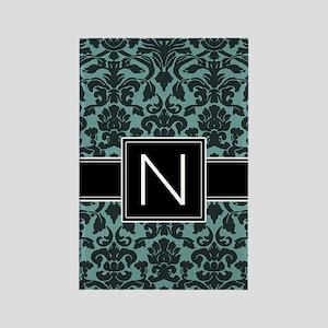 Monogram Letter N Gifts Rectangle Magnet