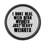 Dead weights Large Wall Clock