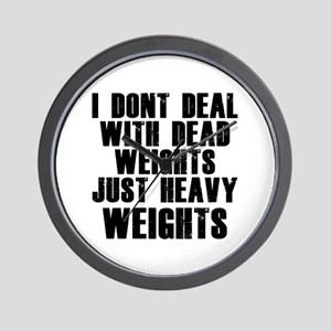 Dead weights Wall Clock