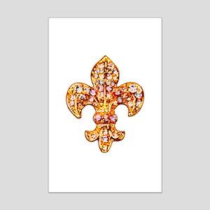 Jeweled Fleur de lis Mini Poster Print