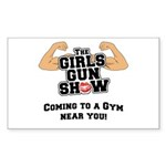Girls Gun Show Sticker (Rectangle)