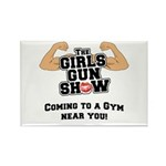 Girls Gun Show Rectangle Magnet
