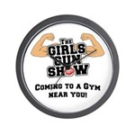 Girls Gun Show Wall Clock