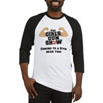 Girls Gun Show Baseball Jersey